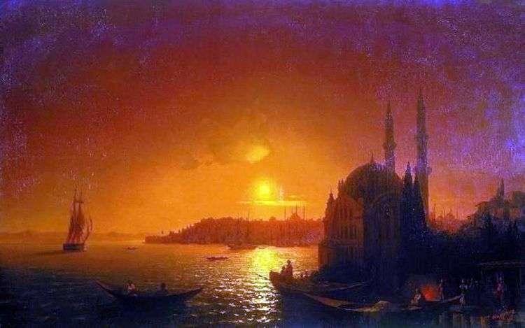 Вид Константинополя при лунном освещении   Иван Айвазовский