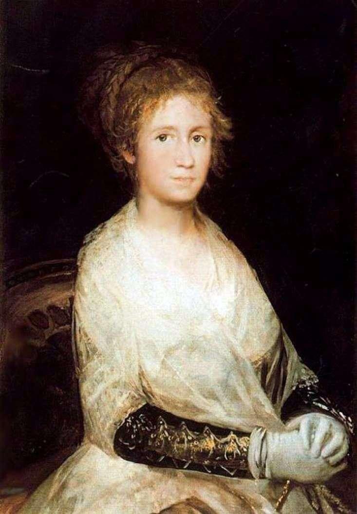 Портрет жены   Франсиско де Гойя