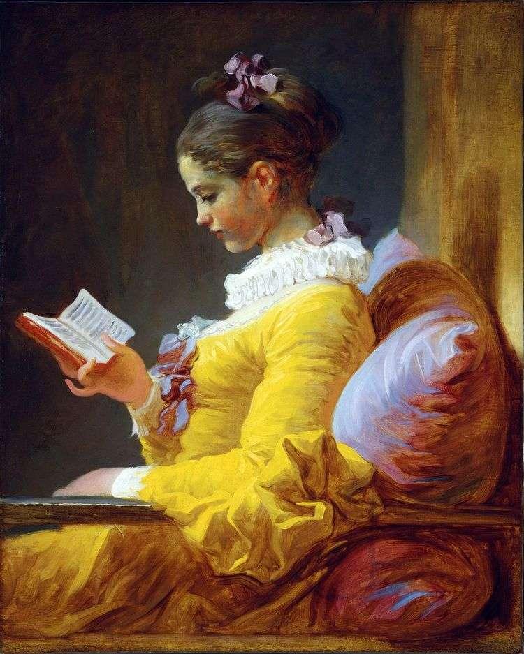 Молодая читательница   Жан Оноре Фрагонар