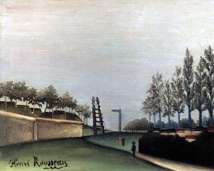Вид Парижа с городской заставы Ване   Анри Руссо