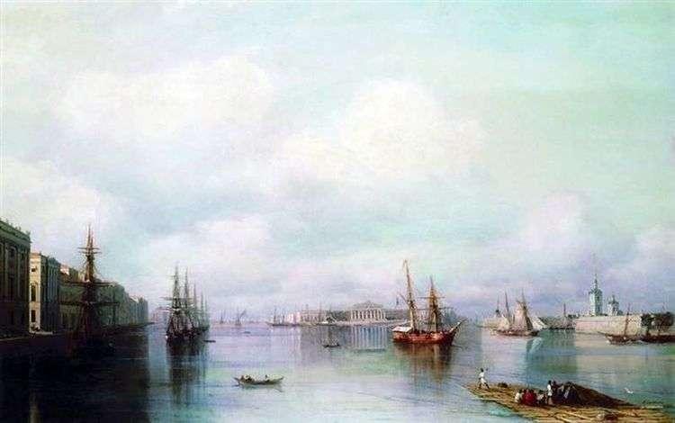 Вид Петербурга   Иван Айвазовский