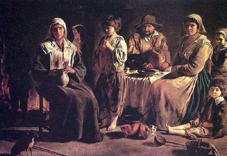Крестьянское семейство   Луи Ленен