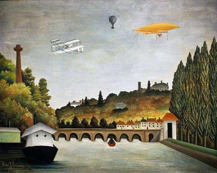 Вид с моста в Севре   Анри Руссо
