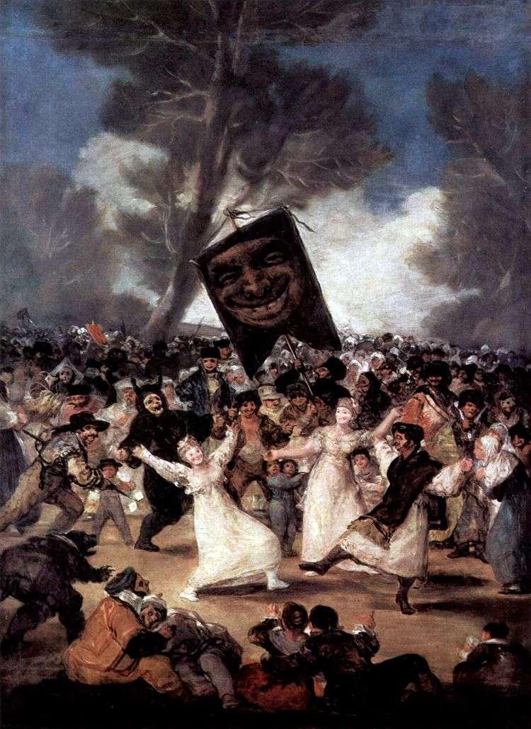 Похороны сардинки   Франсиско де Гойя