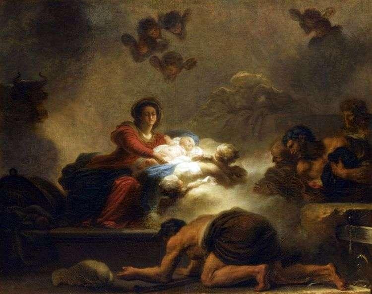 Поклонение пастухов   Жан Оноре Фрагонар