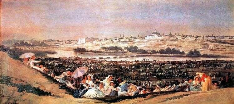 Праздник святого Исидра (Ромерия)   Франсиско де Гойя