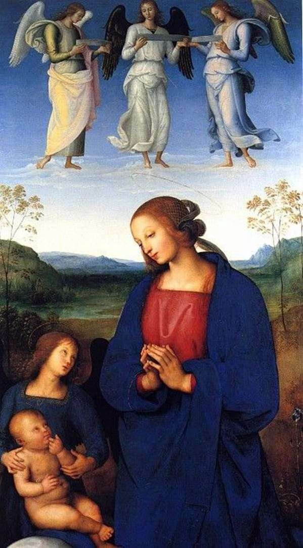 Мадонна с Младенцем и ангелом   Пьетро ди Христофоро Вануччи Перуджино
