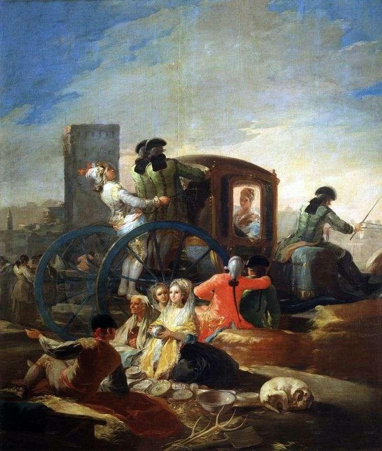 Продавец посуды   Франсиско де Гойя