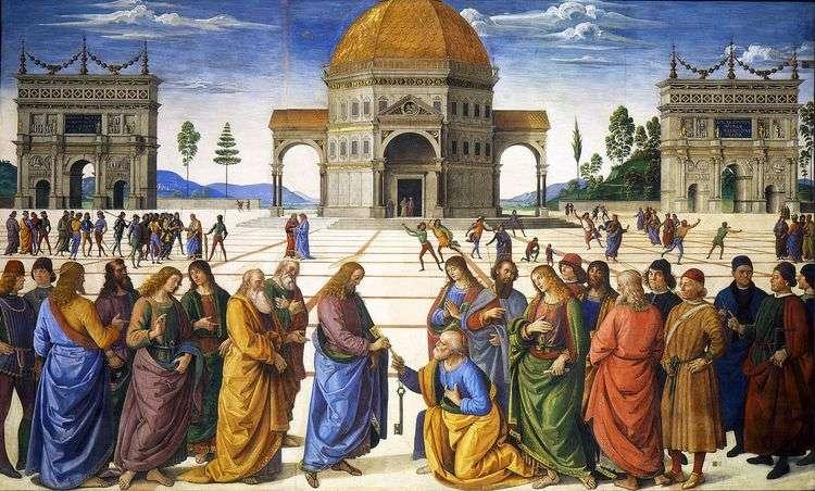 Передача ключей апостолу Петру   Пьетро Перуджино