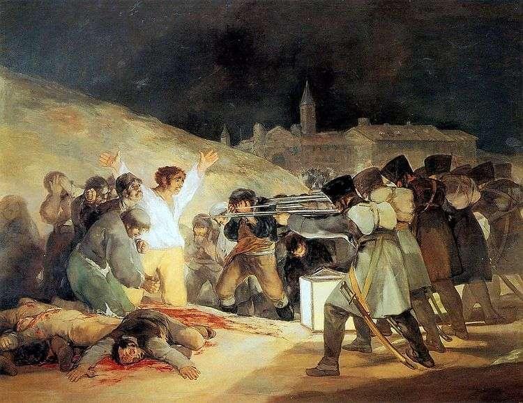 Расстрел повстанцев в ночь на 3 мая 1803 года   Франциско де Гойя