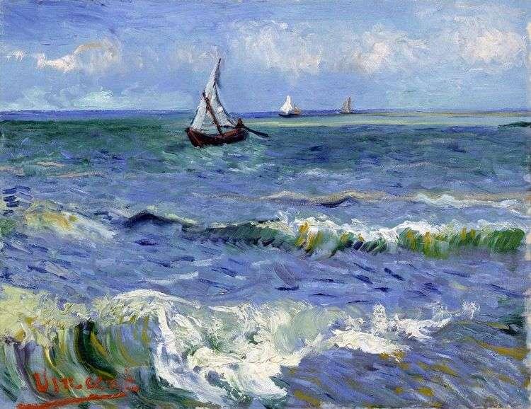 Лодки в море   Винсент Ван Гог