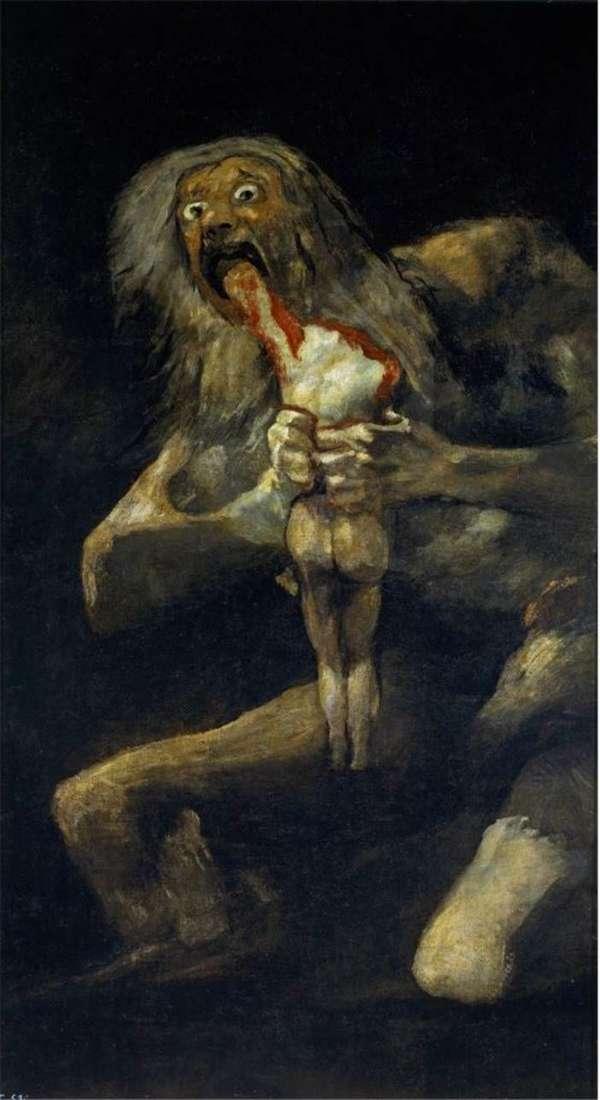 Сатурн, пожирающий своего сына   Франсиско де Гойя