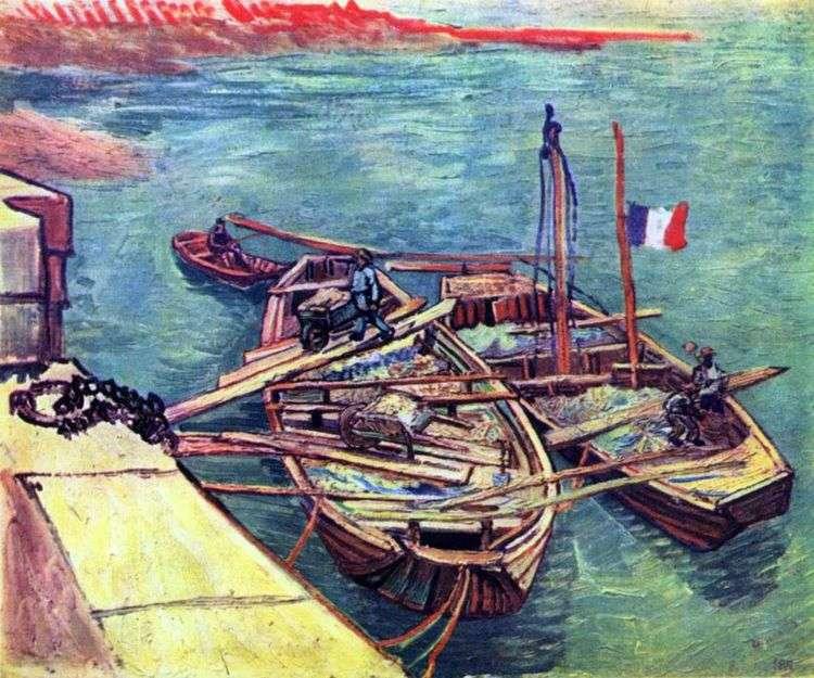 Лодки с песком у причала   Винсент Ван Гог