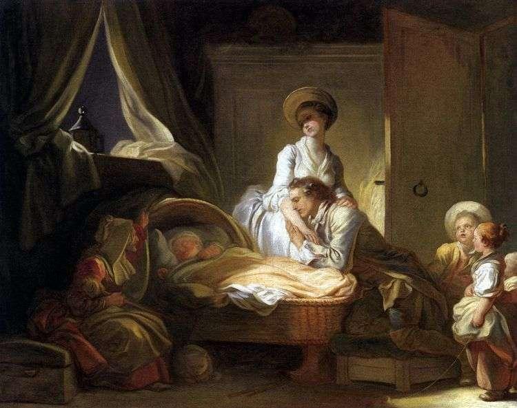 Посещение детской комнаты   Жан Оноре Фрагонар