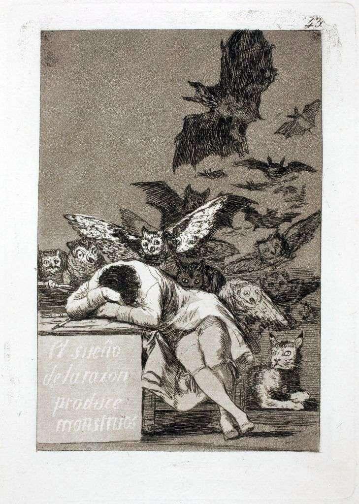 Сон разума рождает чудовищ   Франсиско де Гойя