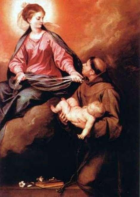 Видение св. Антонио Богоматери с Младенцем   Алонсо Кано
