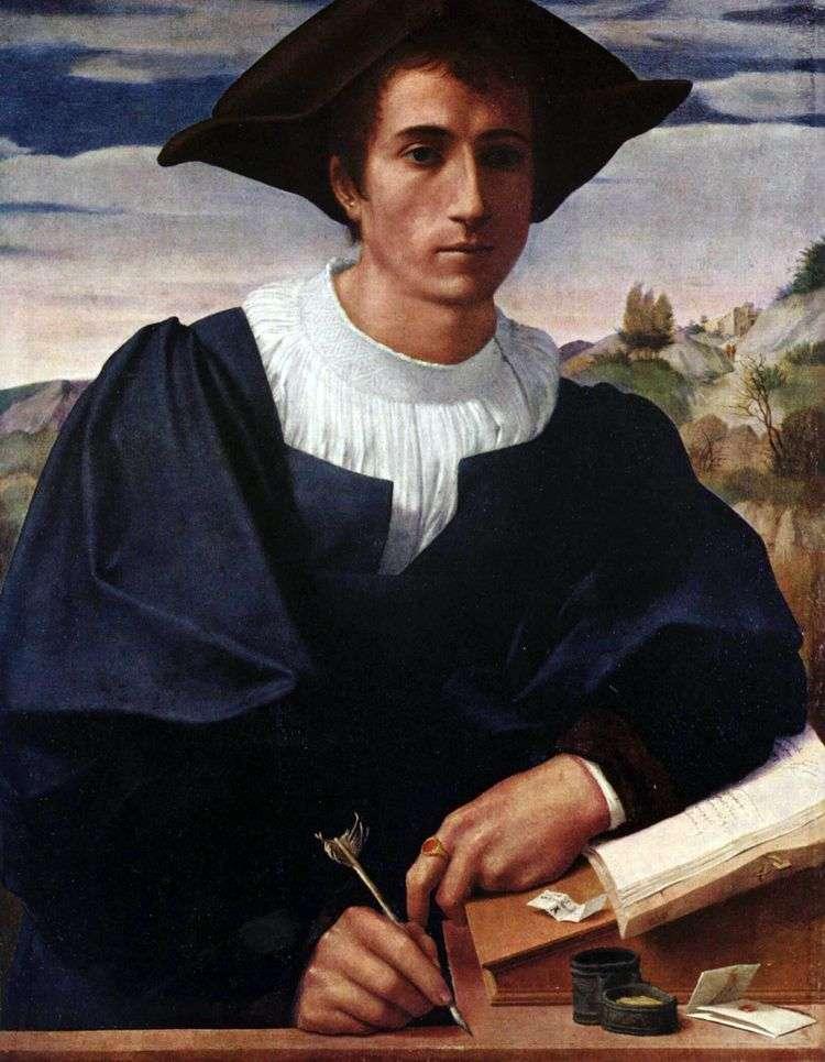 Молодой человек за конторкой   Франческо ди Кристофано Франчабиджо