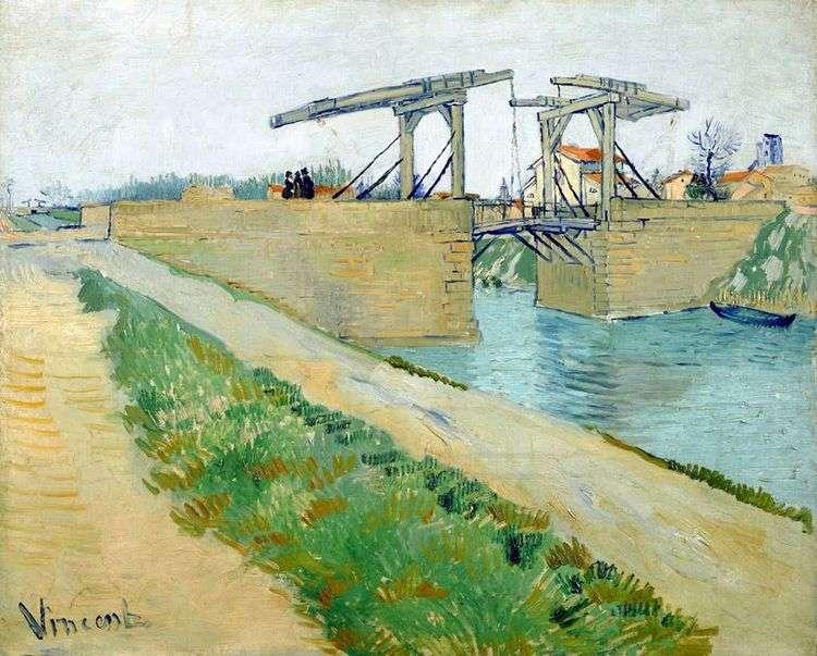 Мост Ланглуа в Арле и дорога вдоль канала   Винсент Ван Гог