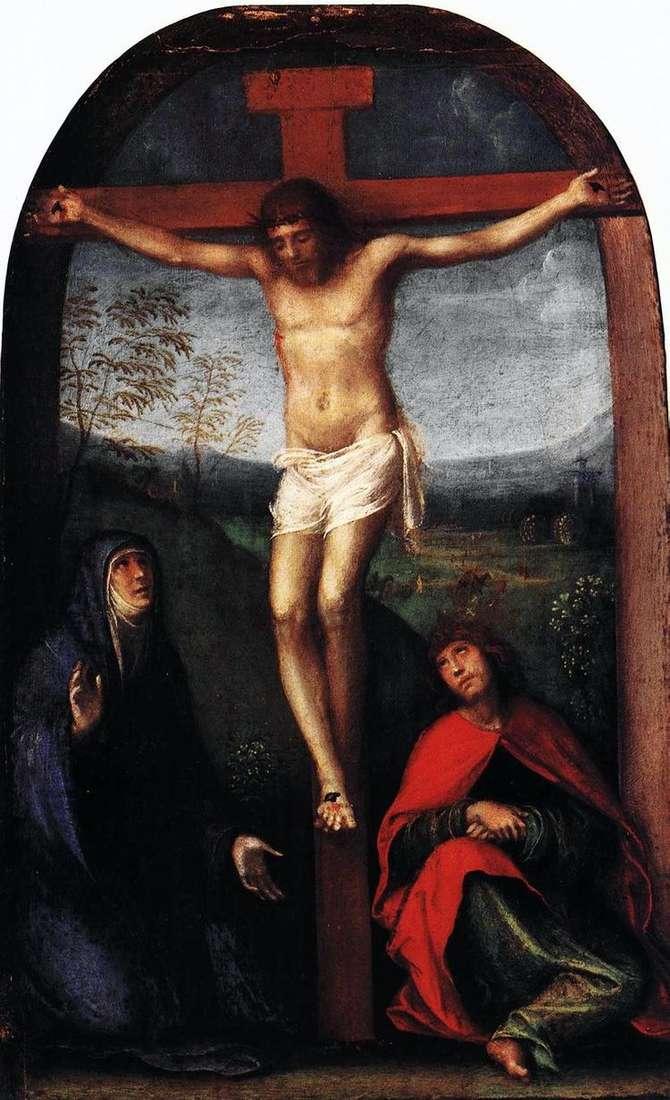 Распятый Христос с Марией и святым Иоанном Евангелистом   Франческо Франче