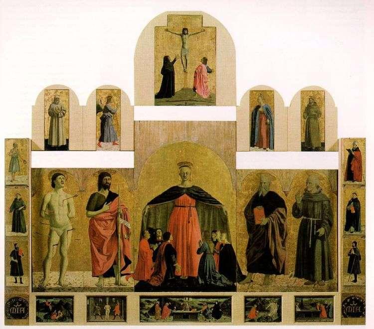 Алтарный образ из церкви Братства милосердия   Пьеро делла Франческа