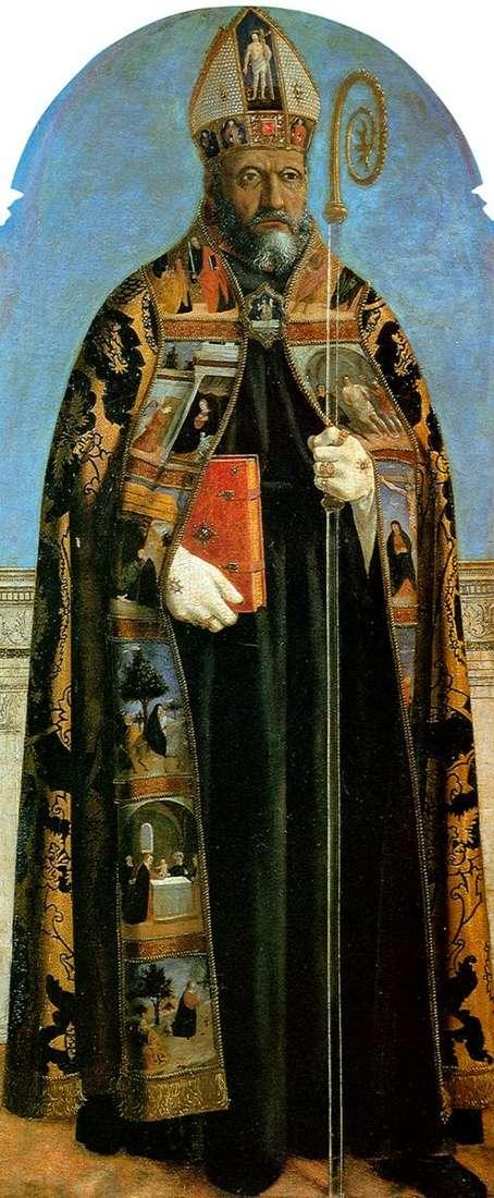 Алтарный образ из церкви Сант Агостино: святой Августин   Пьеро делла Франческа