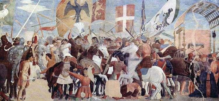 Битва Геракла с Хозроем   Пьеро делла Франческа