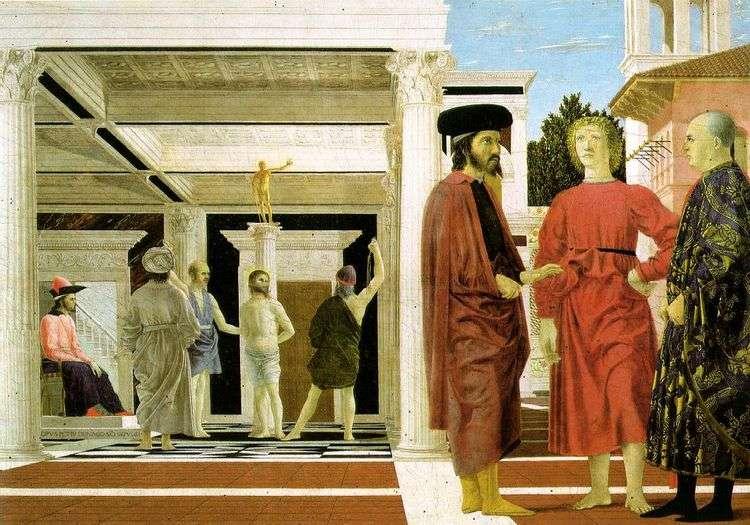 Бичевание Христа   Пьеро делла Франческа