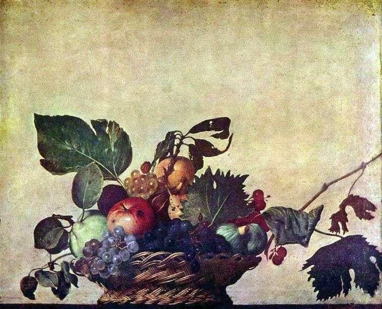 Корзина с фруктами   Микеланджело Меризи да Караваджо