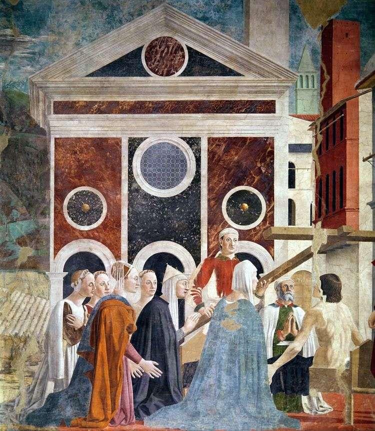 Воздвижение святого креста   Пьеро делла Франческа