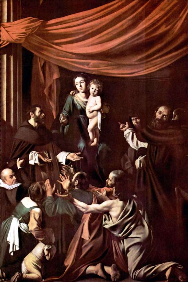 Мадонна дель Розарио   Микеланджело Меризи да Караваджо