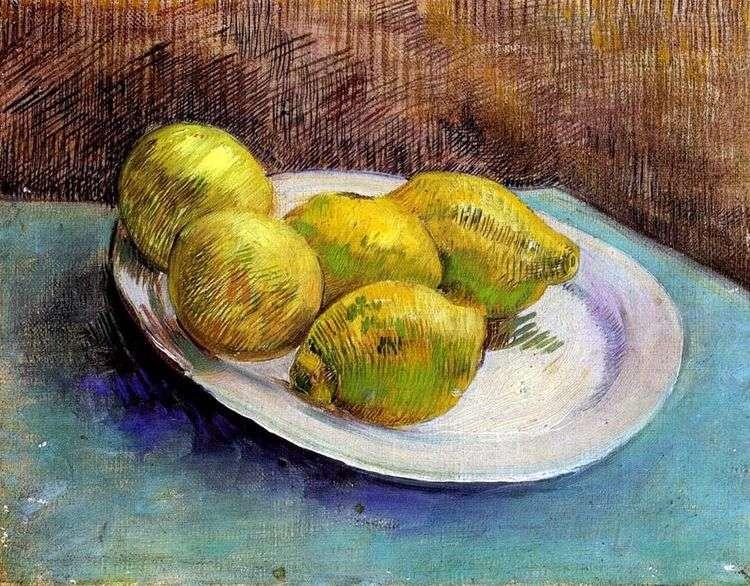 Натюрморт с лимонами на тарелке   Винсент Ван Гог