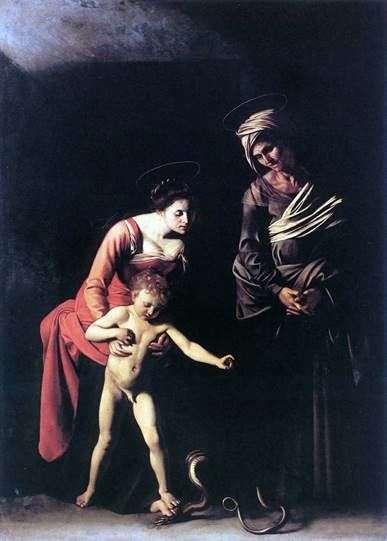 Мадонна со змеей   Микеланджело Меризи да Караваджо