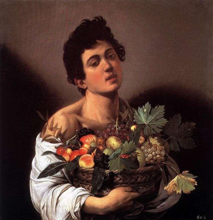 Мальчик с корзиной фруктов   Микеланджело Меризи да Караваджо