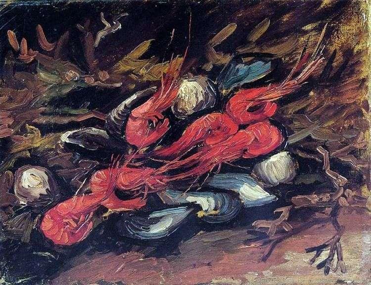 Натюрморт с мидиями и креветками   Винсент Ван Гог