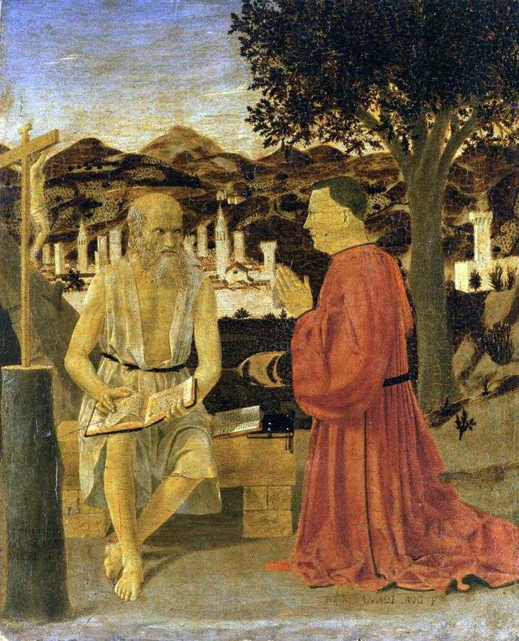 Святой Иероним с донатором   Пьеро делла Франческа