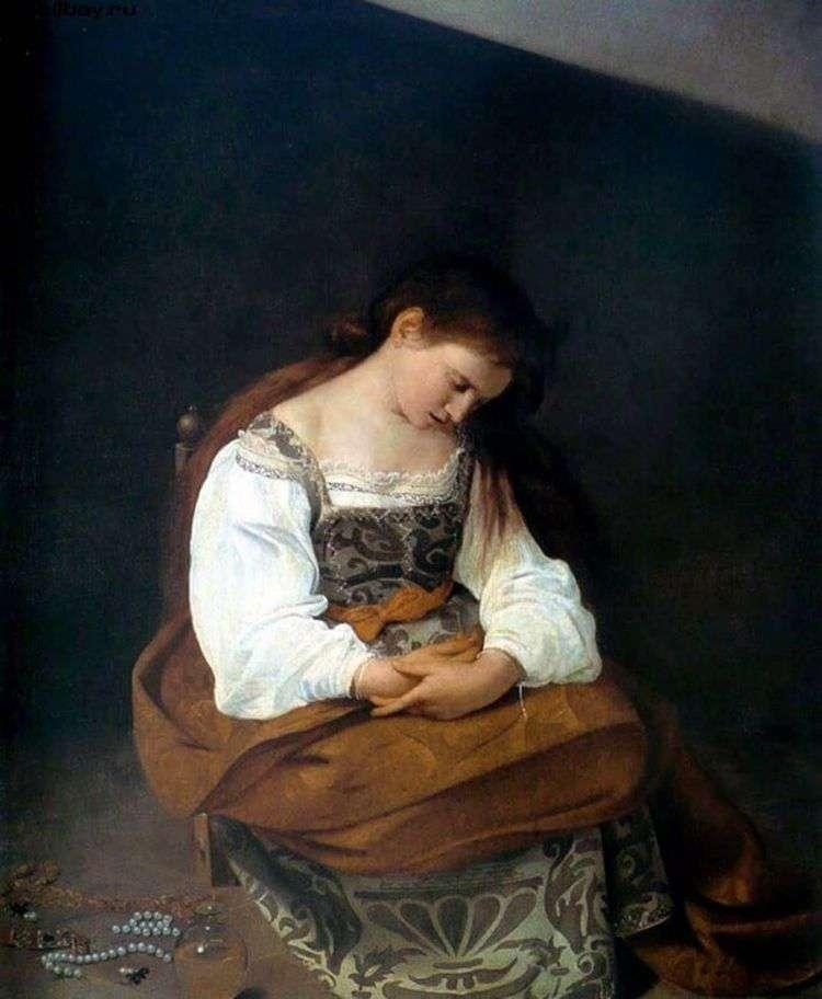Мария Магдалина   Микеланджело Меризи да Караваджо
