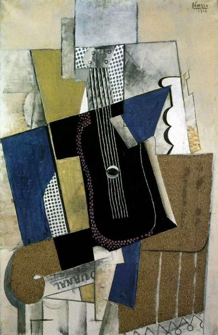 Гитара и газета   Пабло Пикассо