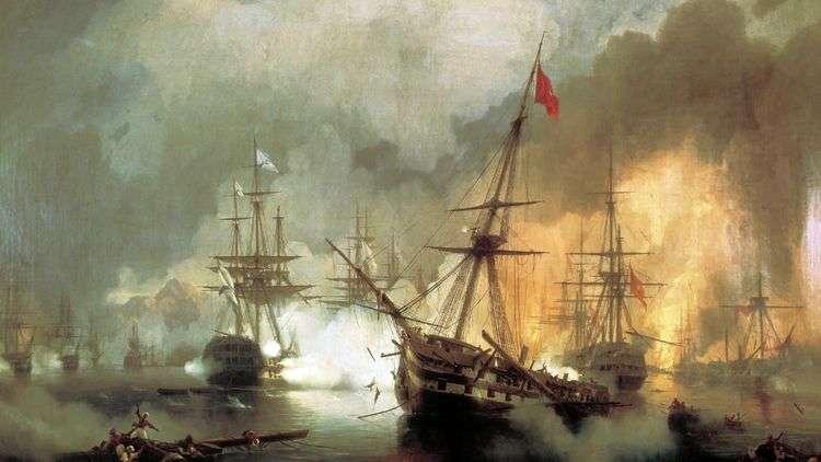 Морское сражение при Наварине 2 октября 1827 года   Иван Айвазовский
