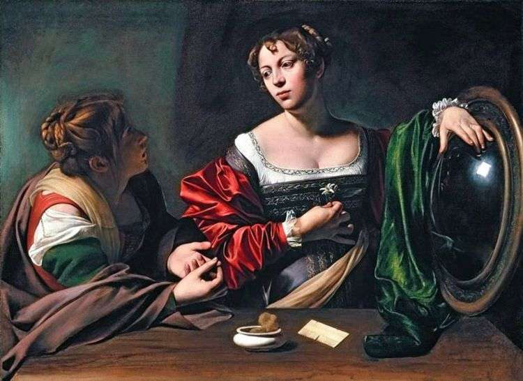 Марта и Мария Магдалина   Микеланджело Меризи да Караваджо
