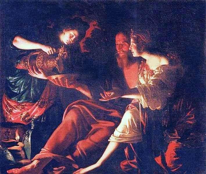 Лот с дочерьми   Джованни Франческо Гверрьери