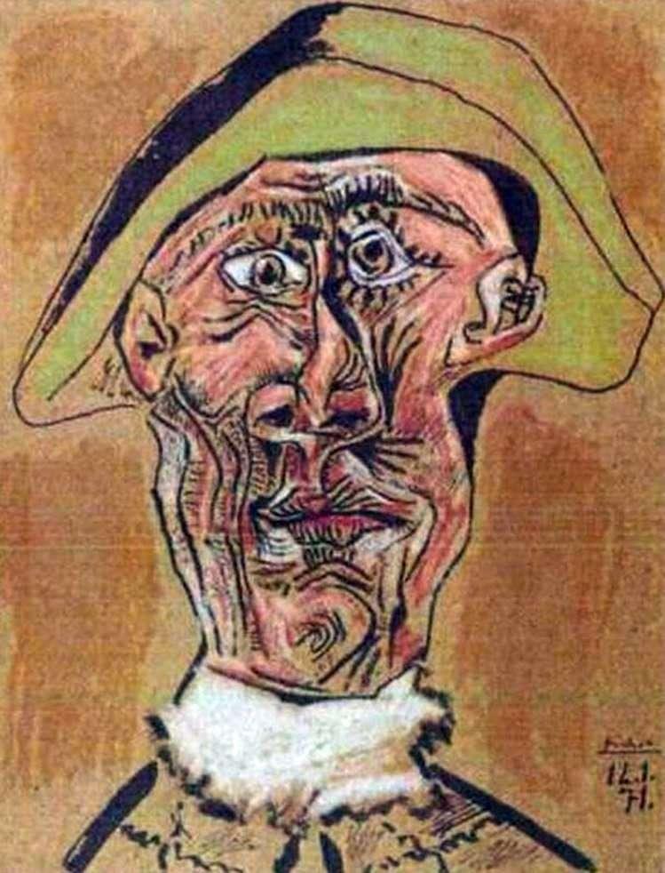 Голова арлекина   Пабло Пикассо