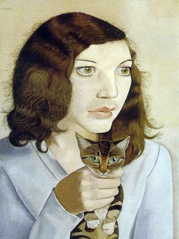 Девушка с кошкой   Люсьен Фрейд