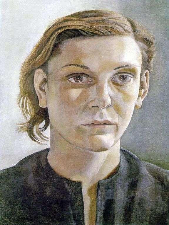 Девушка с темными волосами   Люсьен Фрейд