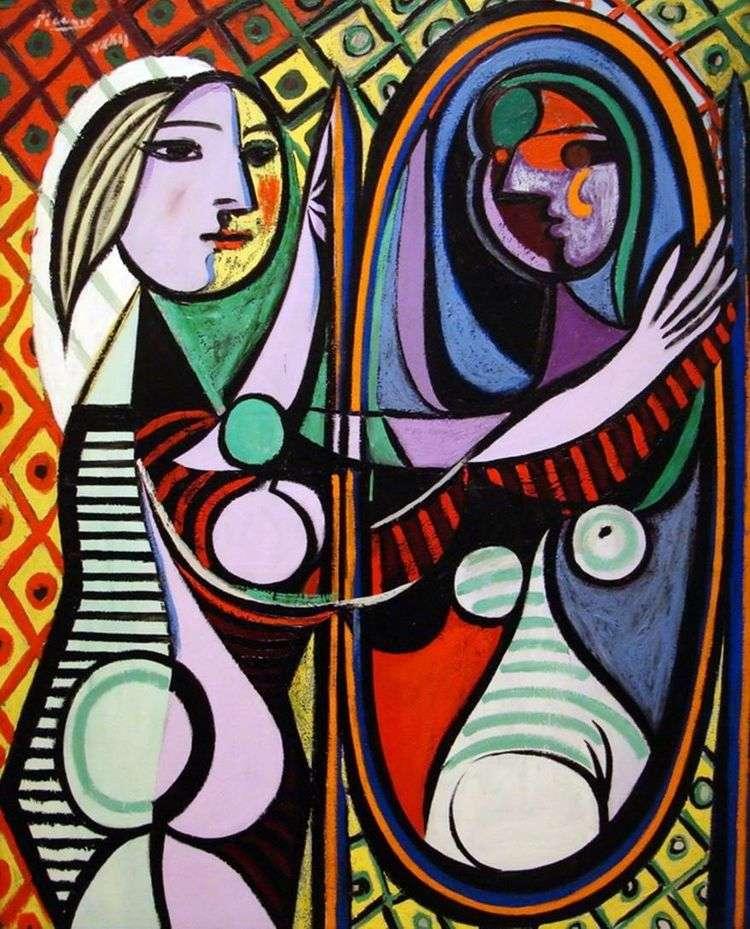 Девушка перед зеркалом   Пабло Пикассо