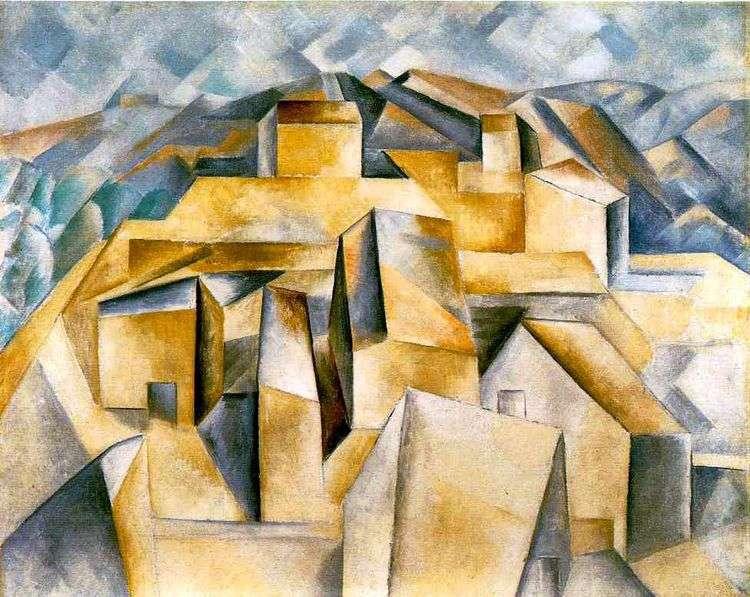 Дома на холме   Пабло Пикассо