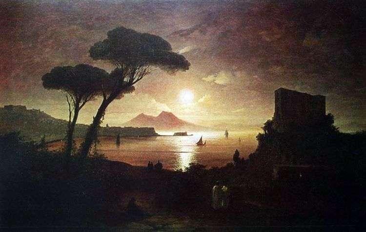 Неаполитанский залив в лунном свете   Иван Айвазовский