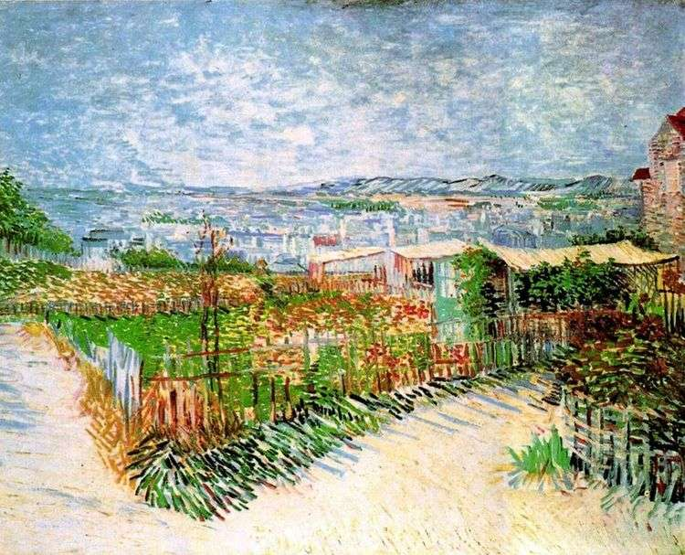 Огороды на Монмартре   Винсент Ван Гог