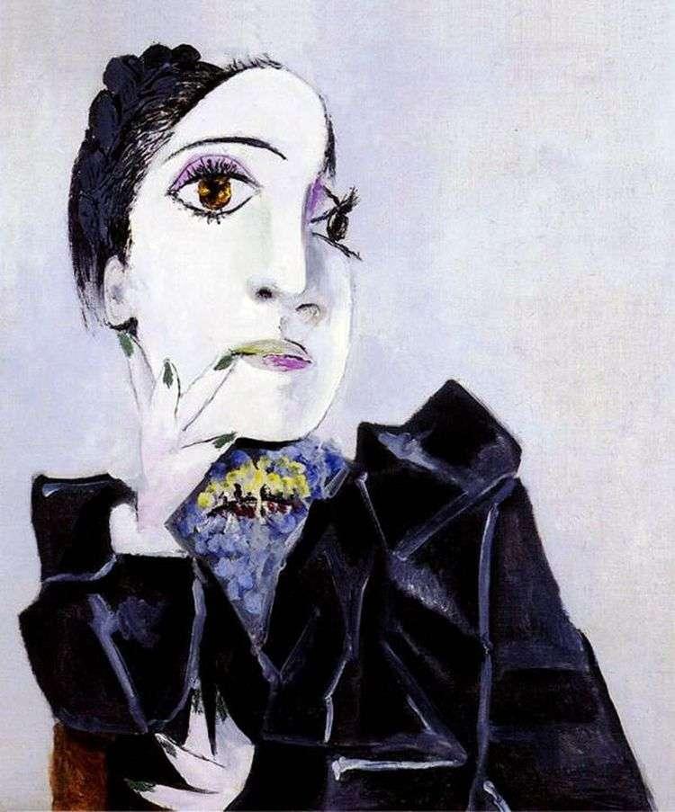 Дора Маар с зелеными ногтями   Пабло Пикассо
