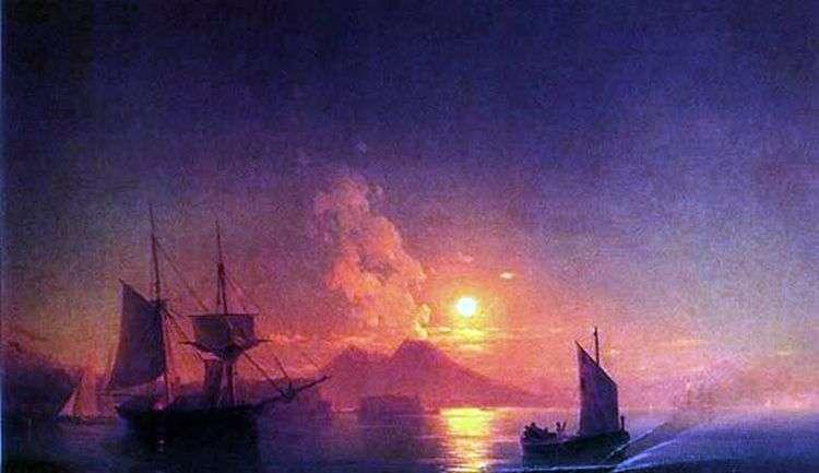 Неаполитанский залив в лунную ночь   Иван Айвазовский