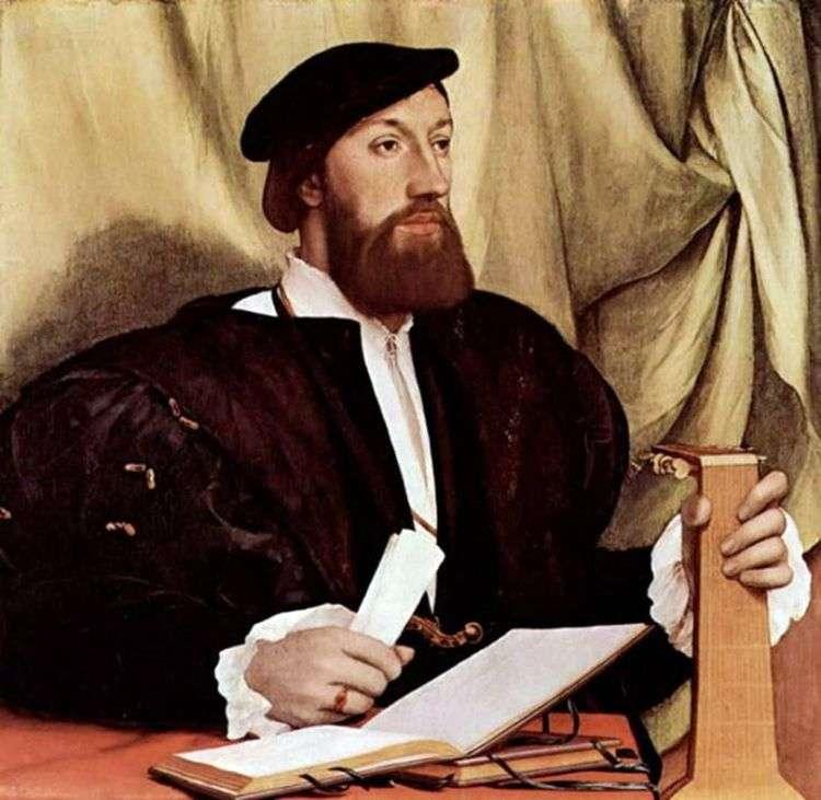 Портрет мужчины с лютней   Ганс Гольбейн